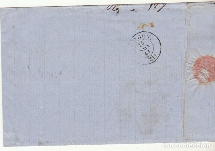 Sellos: Sello 52 . ISABEL II.: VALLADOLID a BURGOS. 1861. - Foto 2 - 72957587