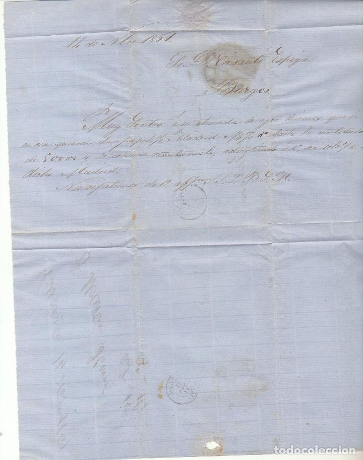 Sellos: Sello 52 . ISABEL II.: VALLADOLID a BURGOS. 1861. - Foto 3 - 72957587
