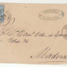 Sellos: FRONTAL . SELLO 75 (SELLOS DENTADOS): LA CAROLINA A MADRID. 1865.. Lote 73081343