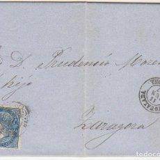 Sellos: SELLO 88. YGUALADA A ZARAGOZA. 1867.. Lote 73096387