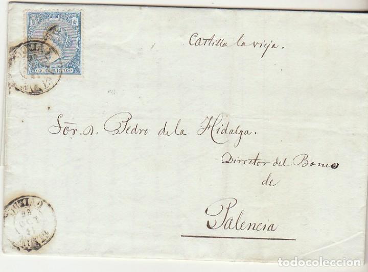 SELLO 81. GIJON A PALENCIA. 1866. (Sellos - España - Isabel II de 1.850 a 1.869 - Cartas)