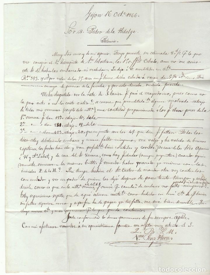 Sellos: Sello 81. GIJON a PALENCIA. 1866. - Foto 3 - 73106835