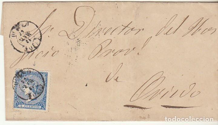 FRONTAL: SELLO 81. OVIEDO 1866. (Sellos - España - Isabel II de 1.850 a 1.869 - Cartas)