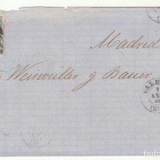 Sellos: ENVUELTA : SELLO 75. VALENCIA A MADRID. 1865.. Lote 73116983