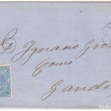 Sellos: SELLO 75: VALENCIA A GANDIA. 1865.. Lote 73120355