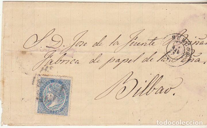 SELLO 88. BURGOS A BILBAO. 1867. (Sellos - España - Isabel II de 1.850 a 1.869 - Cartas)