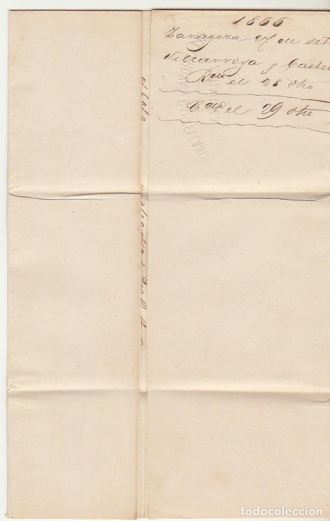 Sellos: Sello 81. ZARAGOZA a BARCELONA. 1866. - Foto 3 - 73139871