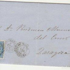 Sellos: SELLO 88 . VALLS (TARRAGONA) A ZARAGOZA. 1867.. Lote 73144035
