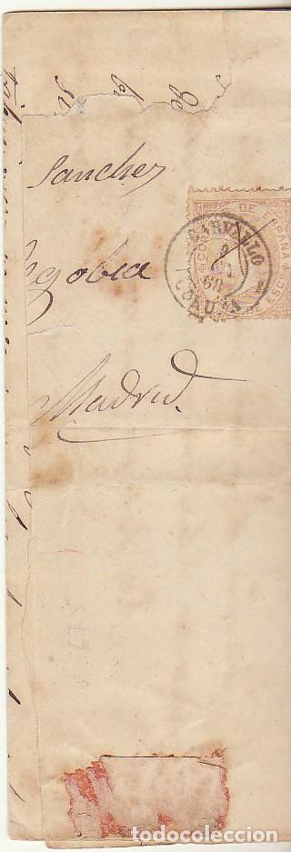 SELLO 96. CARVALLO (CORUÑA) A MADRID. 1868. (Sellos - España - Isabel II de 1.850 a 1.869 - Cartas)