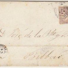 Sellos: SELLO 98 : AVILES A BILBAO. 1869.BONITA CARTA TEXTO INTEGRO VER FOTOS ADICIONALES. Lote 73629059