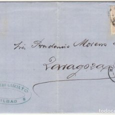 Sellos: SELLO 96 . BILBAO A ZARAGOZA . 1867.. Lote 73629927
