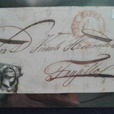 Sellos: CARTA CIRCULADA DE ZAFRA A TRUJILLO CON UN SELLO DE 6 CUARTOS 1851. Lote 73876091