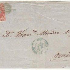 Sellos: FRONTAL : SELLO 48. GIJON A OVIEDO. 1856.. Lote 74823823