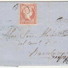 Sellos: SELLO 48 : PUERTO DE ALMAZARRON (MURCIA) A BARCELONA. 1858.. Lote 74828383