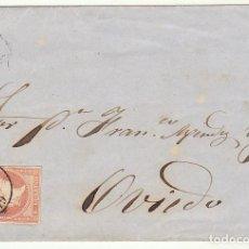 Sellos: FRONTAL : SELLO 48 . GIJON A OVIEDO. 1859.. Lote 74832071