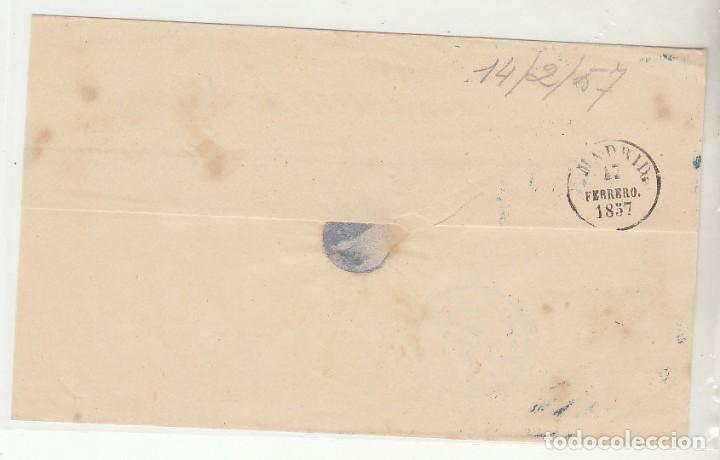 Sellos: FRONTAL : sello 48 . OVIEDO a MADRID . 1857. - Foto 2 - 74835275
