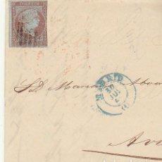 Sellos: FRONTAL : SELLO 40. (FILIGRANA LAZOS). MADRID A AVILA . 1855.. Lote 74933971