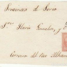 Sellos: FRONTAL : SELLO 48. SANTANDER A CERVERA DEL RIO ALHAMA (RIOJA). 1858.. Lote 74937443