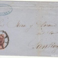 Sellos: SELLO 58. ISABEL II : BARCELONA A SANTIAGO. 1863.. Lote 74940275