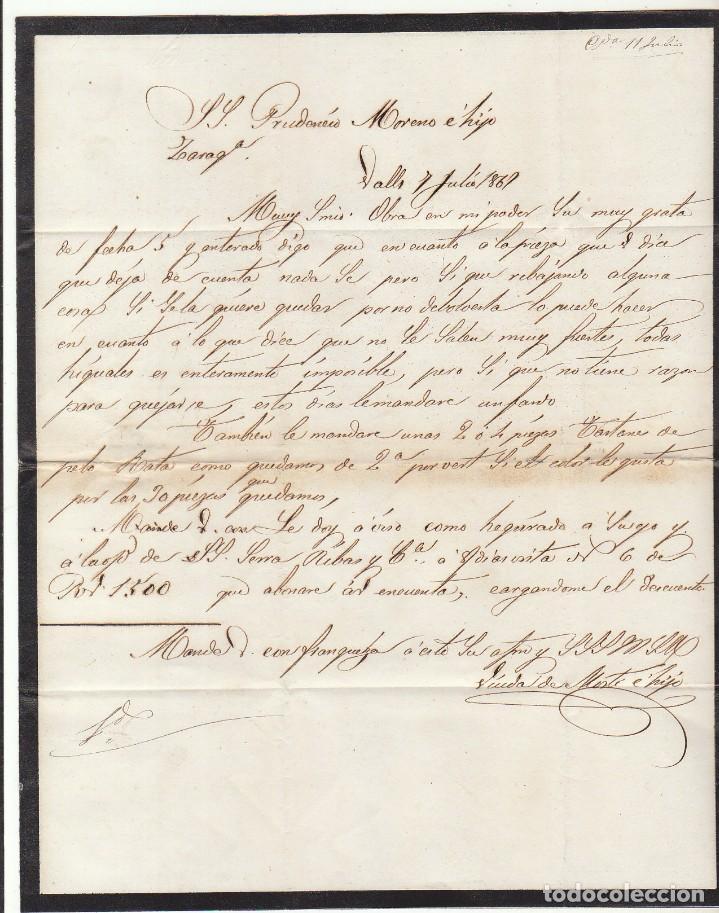 Sellos: Sello 96 : VALLS (TARRAGONA) a ZARAGOZA .1867. - Foto 3 - 75676191