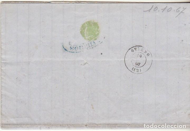 Sellos: Sello 96 : GIJON a OVIEDO. 1867. - Foto 2 - 75676783