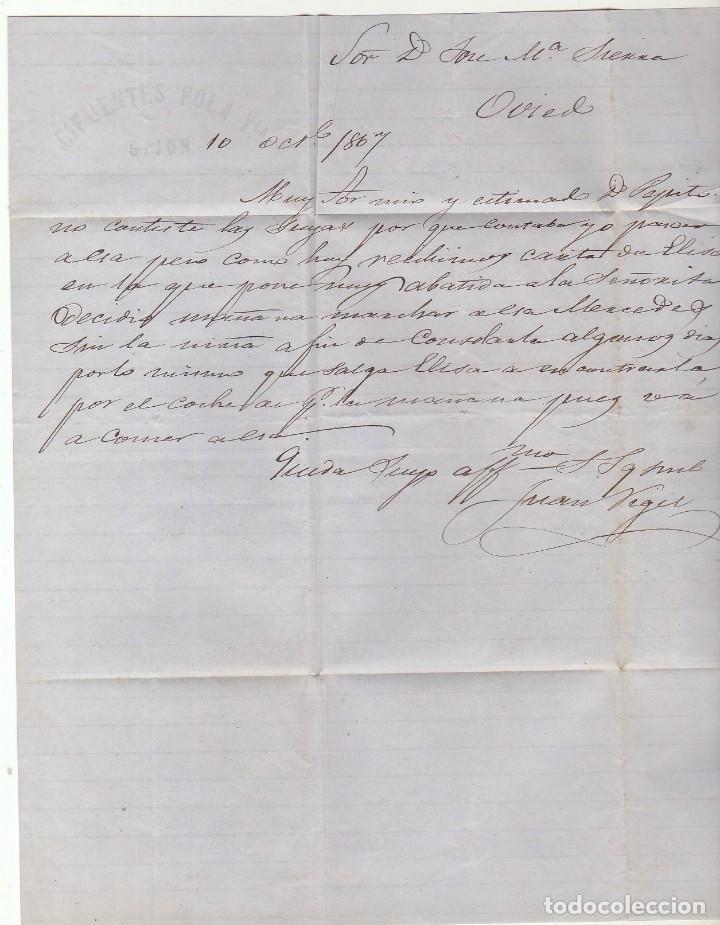 Sellos: Sello 96 : GIJON a OVIEDO. 1867. - Foto 3 - 75676783