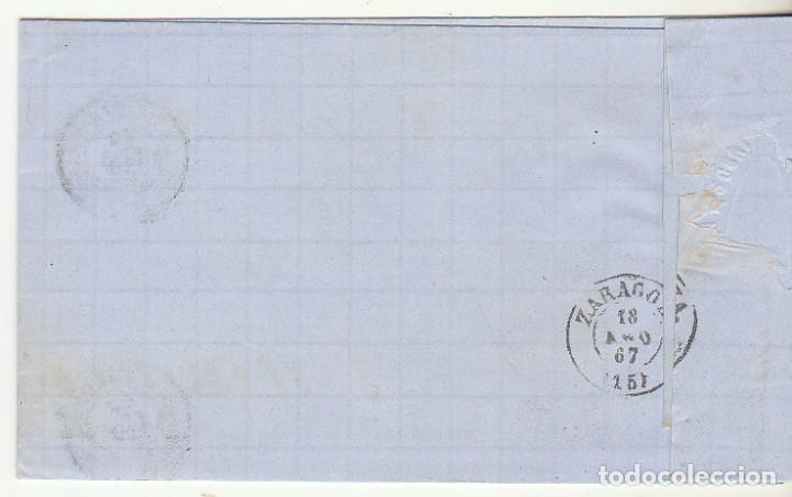 Sellos: Sello 96 : BARCELONA a ZARAGOZA. 1867. - Foto 2 - 75677559