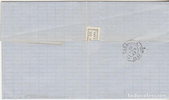 Sellos: Sello 96 : YGULADA a ZARAGOZA . 1867. - Foto 2 - 75678903