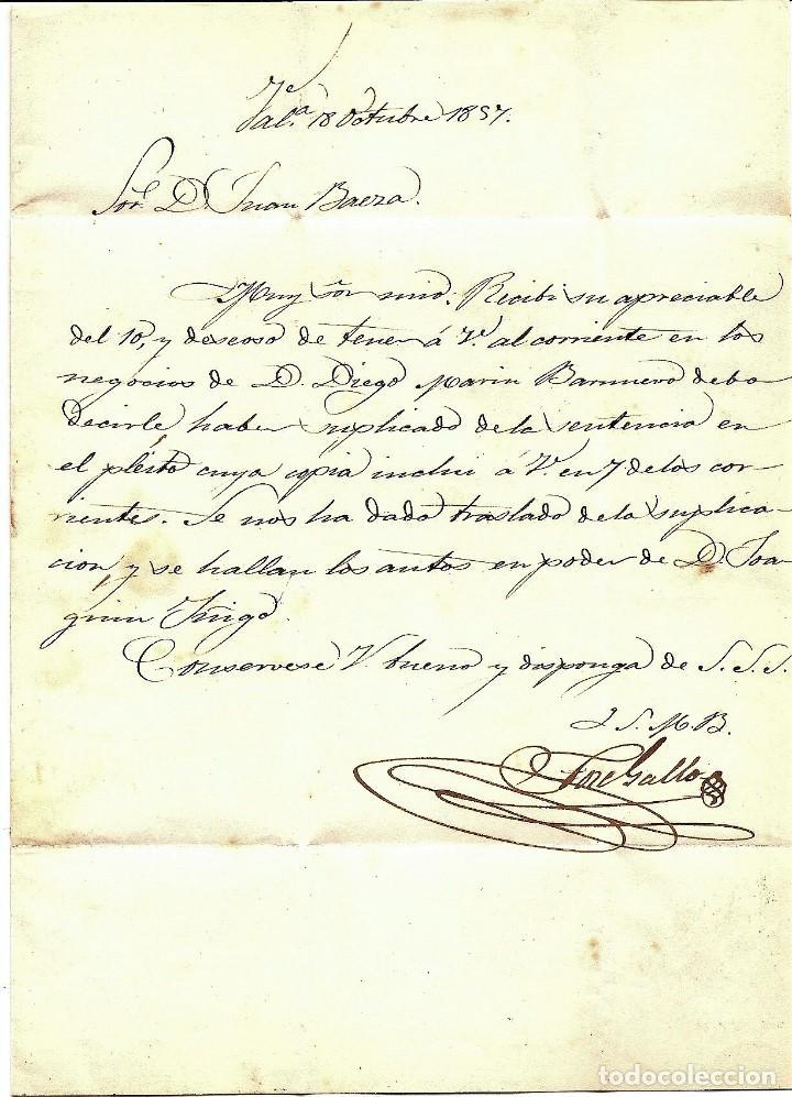 Sellos: ENVUELTA CIRCULADA DE VALENCIA A MURCIA - SELLO 4 CUARTOS AÑO 1857 - Foto 2 - 205762681
