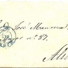 Sellos: ENVUELTA CIRCULADA DE MADRID A ALICANTE - SELLO 4 CUARTOS AÑO 1855. Lote 96091632