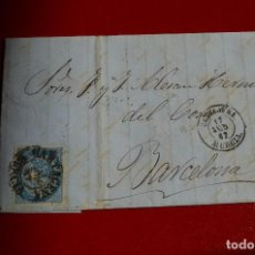 Sellos: CARTA CARTAJENA MURCIA MATASELLO FECHADOR TIPO I Y II BARCELONA MAZARRON CARTAGENA. Lote 77603665