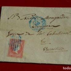 Sellos: ENVUELTA DESDE MADRID A UNCASTILLO BONITA PARRILLA COLOR AZUL . Lote 77607281