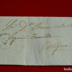 Sellos: CARTA COMPLETA NAVARRETE LOGROÑO LA RIOJA MATASELLO AMBULANTE? SELLO REVERSO. Lote 77608193