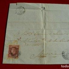 Sellos: CARTA (ENVUELTA) NAVALCARNERO MADRID A SEGOVIA MATASELLO FECHADOR TIPO II HISTORIA POSTAL. Lote 77609137