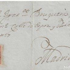 Sellos: CARTA (ENVUELTA) MATASELLO FECHADOR MATARO BARCELONA A MADRID 1859. Lote 78283437