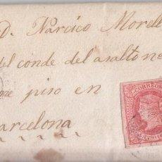 Sellos: CARTA ENTERA DE MANRESA A BARCELONA. 1864. CATALUÑA. Lote 81207128