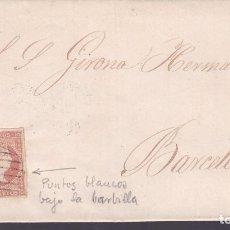 Sellos: F24- CARTA COMPLETA TARREGA LÉRIDA -BARCELONA 1858. Lote 82367040