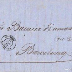 Sellos: 0222. CARTA ENTERA RODA DE TER (BARCELONA) 1864, FECHADOR VICH. Lote 83142908