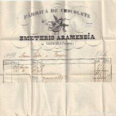 Sellos: CARTA MATASELLOS FECHADOR TIPO II ROJO TUDELA NAVARRA A ZARAGOZA FABRICA CHOCOLATE. Lote 83709136