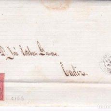 Sellos: F21-4- CARTA COMPLETA SAN FERNANDO- CADIZ 1864. VARIEDAD SELLO CICS (CTOS). Lote 84431736
