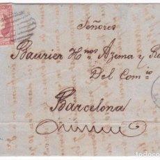 Sellos: F21-20-CARTA COMPLETA HARO- BARCELONA 1857. Lote 84444632