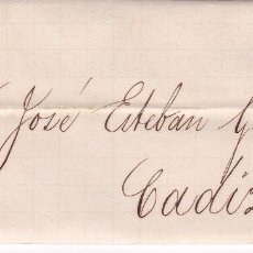 Selos: HP6-17-CARTA COMPLETA SEVILLA -CADIZ 1863. ETIQUETA CIERRE MARTINEZ HERMANOS. Lote 84649720