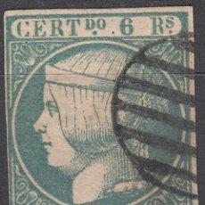Stamps - España 1852 - Isabel II 6 r azul verdoso - Edifil Nº 16. SELLO CLASICO. OFERTA -40%. - 84713352