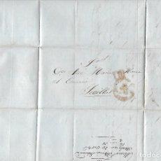 Sellos: CARTA. DE MANUEL ALCAÑIZ ECHEVARRIA, SANLUCAR DIRIGIDA A JOSE Mº YBARRA, SEVILLA. 1850. VER. Lote 84803948