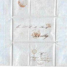 Sellos: CARTA DE ARRIGANAGA E HIJOS, CADIZ A JOSE Mº YBARRA, SEVILLA. 1850. VER. Lote 84804716