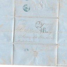 Sellos: CARTA. 1857. DE LUCIANO LAULHE, PARIS DIRIGIDO A PATRICIO GARVEY, JEREZ. VER. Lote 84897964