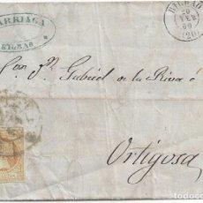 Sellos: CARTA BILBAO RUEDA CARRETA BILBAO 1860. Lote 85214860