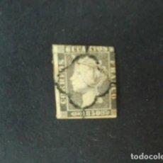 Sellos - ESPAÑA,1850,ISABEL II,EDIFIL 1A,MATASELLO ARAÑA NEGRO,PAPEL GRUESO,(LOTE AR) - 85231856