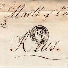 Sellos: CARTA ENTERA DE SEGURA Y VILA DE TORTOSA -TARRAGONA- -1861 CON SELLO NUM. 52 CON FECHADOR. Lote 86833464