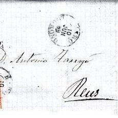 Sellos: CARTA ENTERA DE BUESA HNOS. EN HARO -LOGROÑO-CON SELLO NUM 48 Y FECHADOR AÑO 1859. Lote 87144740